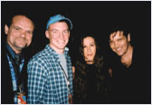 Larry, brother Michael Damian and Alanis Morrisette.
