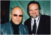 Larry with star of the hit show 'The Shield' - Michael Chiklis