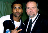 Recording artist/rapper Ginuwine with Larry at this year's American Music Awards.