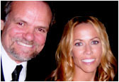 Larry with recording artist Sheryl Crow.